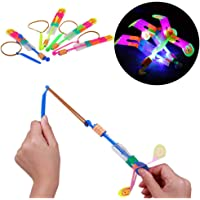 Goodplan 24 Stücke Glowing Kleine Pfeil Kind Fliegende Pfeil Rakete Blinkende Libelle Kinder Spielzeug (Bunte)