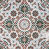 Orientalische Wandfliese marokkanische Bodenfliese Keramikfliese Maurische Mosaik Fliese NISA 40,2 x 40,2 cm