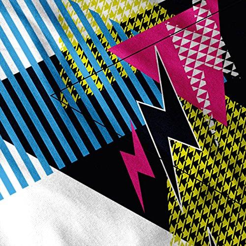 Dreieck Stil Muster Blinken 80er Jahre Damen S-2XL Muskelshirt   Wellcoda Weiß