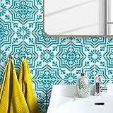 Boubouki Wasserabweisende Fliesenaufkleber MOULAY 01 – für Bad und Küche | 15 x 15 cm