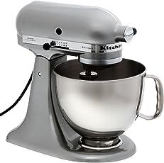 KitchenAid Robot Da Cucina Artisan 5KSM150PSEMC - Argento (4.8l, 300W)