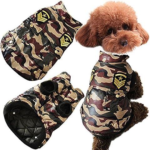 Tutoy Veste De Chien D'Hiver Pet Cat Veste De Camouflage Manteau De Chien Vêtements De Chien De Coton Chaud Fatigues De