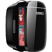 Mini Frigo de Chambre 6L/8 Canettes, OMMO Portable Petit Réfrigérateur Cosmétique Glacière Electrique Chaud/Froid pour…