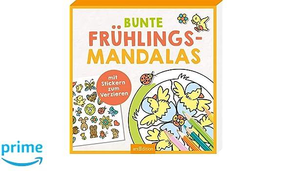 Bunte Frühlings Mandalas Mit Stickern Zum Verzieren Amazon De