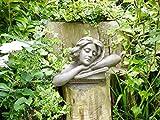 femelle Tête Buste Buste Statue de jardin Ornement Lady Grande sculpture Résine 46cm