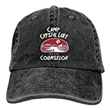 Aoliaoyudonggha Camp Crystal Lake Counselor Denim Hat Adjustable Baseball Cap