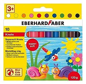 Eberhard Faber 572 110 - Mini Club para niños de Arcilla Suave estupendo, 10 Bares en Caja de cartón