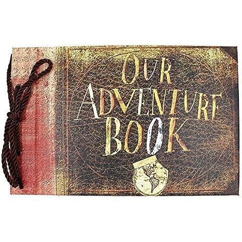 xiduobao Nuestra/Mi álbum de fotos de aventura Retro Álbum Recortes para DIY aniversario Anniversary álbum de recortes, álbum de fotos, álbum de fotos de boda, Our adventure book,