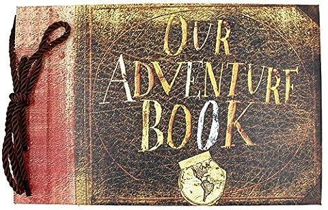 XIDUOBAO Our/My Adventure Photo Album Retro Album Anniversary Scrapbook DIY Anniversary Scrapbook Album,Photo Album,Wedding Album (Our adventure book)