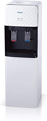 Saachi Hot & Cold 2 Taps Free Standing Water Dispenser with Storage Cabinet, White - NL-WD-67