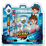 Coffret Yo Kai Watch - Montre Digitale - Stylo 6 couleurs - Journal Intime