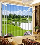 Waple Schönes Foto 3D Custom Vorhänge Vorhänge See Landschaft vor Dem Fenster Mode Home Decor 240X260CM