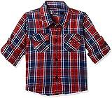 #3: Gini & Jony Baby Boys' Plain Regular Fit Shirt (151246519343 C457_Red_6M-9M)