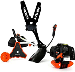 Fuxtec Petrol Brush Cutter 2 In 1 Multi Tool Trimmer Fx Ms152 With 52cc 3hp Power 2 Stroke Professional Carrying Strap Grass Trimmer Brush Cutter Fs Thread Easy Starter Tested In The Upper Class With Grade 1 4 Baumarkt