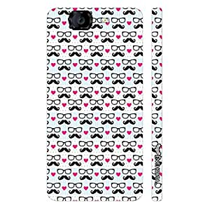 Micromax Canvas Knight A 350 I Love Moochad designer mobile hard shell case by Enthopia