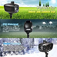 Christmas Projector Lights, Outdoor Christmas Lights InnooLight Waterproof 17 Patterns Light Show, Holiday Lights Decoration for 7 Themes- Halloween, Christmas, Birthday, Year, Valentine's Day, Easter, Party, etc. by Innoo Tech