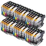 30x Druckerpatronen kompatibel für Brother LC-123 LC123 XL Brother DCP-J132W DCP-J150 Series DCP-J152W DCP-J152WR DCP-J172W DCP-J4110DW DCP-J4110W DCP-J552DW DCP-J752DW MFC-J245 MFC-J285DW