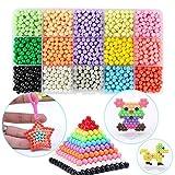 FunBeads 15 Farben Nachfüllset für Regelmäßige Größe 5mm Perlen Bastelset Starter Set Designer Kollektion für Kinder 2200 Perlen Komplett-Set