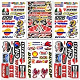 Dirt Bike MotoGP Motocross Motorräder ATV Teile Race Zubehör Sponsor Garage Toolbox Racing Motos Logo Helmblatt Grafitti Kit 6 Vinyl Graphics Sticker Set D6722 Best4Buy