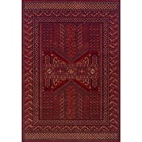 Royal Classic 635 R Rug Heavy Wool Red Black Beige 120 x 180cm (4ft x 6ft approx)