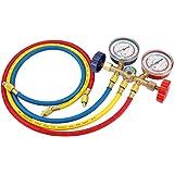 Refrigerant manifold gauge set,Refrigerante manguera para R12 R22 R404A R134A,manómetros aire acondicionado de refrigeración