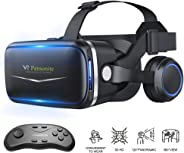 Pansonite Vr Headset with Remote Controller[New Version], 3D Glasses Virtual Reality Headset for VR Games & 3D Movies, Eye C