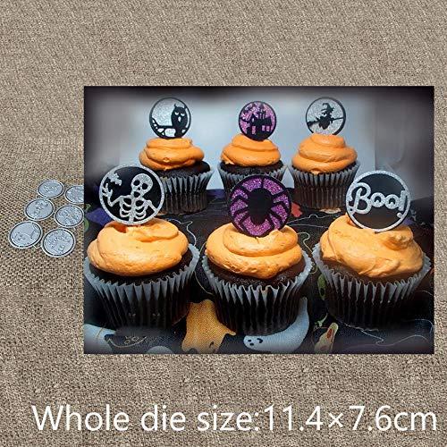 Handwerk Metall Stanzen Stanzungen 6 stücke Halloween Ringe Dekoration sammelalbum Album Papier Karte Handwerk Präge stanzungen (Kostüm Ringe Aus China)