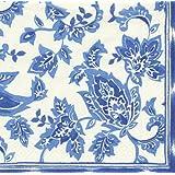 Bali Blue White Entertaining with Caspari Paper Luncheon Napkin 20 in pack 33cm square