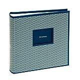 Semikolon (354787) 200 Pocket Album Seigaiha-Muster marine (blau) | Foto-Buch mit Einschubtaschen für insgesamt 200 Bilder im Format 10 x 15 cm