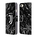 Head Case Designs Offizielle Juventus Football Club Schwarz 2017/18 Marmor Leder Brieftaschen Huelle kompatibel mit iPhone 7 / iPhone 8