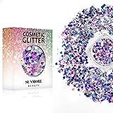 Vari colori Iridescent Cosmetic Glitter Sequin per il corpo del chiodo del viso, brillante trucco Glitter Paillette per il festival di musica Masquerade Halloween Party Ball di Natale - Y3