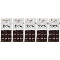 Set 5 Tavolette 100% Massa di Cacao - 450 g, Beppiani – Cioccolato Artigianale – MADE IN ITALY