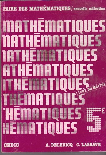 Faire des mathematiques 5e professeur