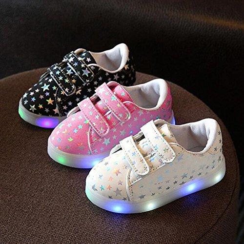 Juleya LED helle Schuhe Jungen Mädchen scherzt Turnschuhe Rosa