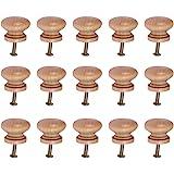 SUPVOX Houten knoppen kast meubels lade knoppen trekken handgrepen met schroef voor café hotel restaurant wooncultuur (grote