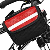 Roter Kristall Fahrrad Rahmentasche Oberrohrtasche Fahrrad Satteltasche Lenker Tasche Fuer Mountainbike Rot