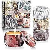Velas Perfumadas para Mujer, 5.56oz Cera de Soja, Vela Aromaticas Regalo, Juegos de Velas para Cumpleaños, Día de La Madre, D