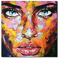 KUNST DRUCK Gemälde Leinwand modern abstrakt Bild 855 Portrait SIGNIERT 80x80