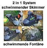 CSP-2000 schwimmender Skimmer incl. Teichfontäne bis zu 30m² 2in1 System Teich