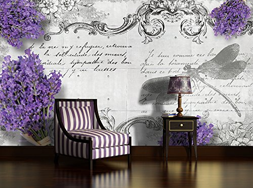 scaricare-pannelli-progettazione-1799p8-wallpaper-4-compose-in-natura-lavanda-libellula-fiori-multic