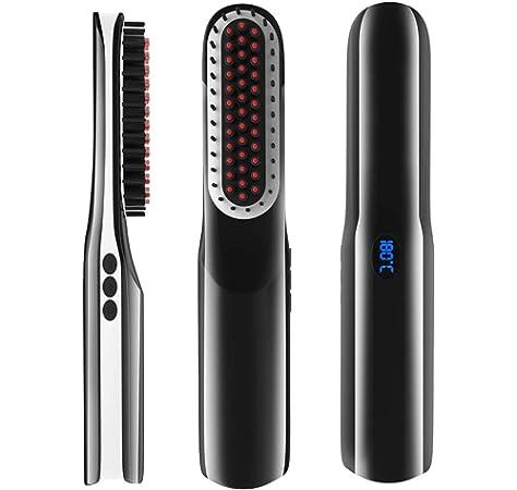 Beard Straightener Brush, Volwco USB Charging Cordless Hair