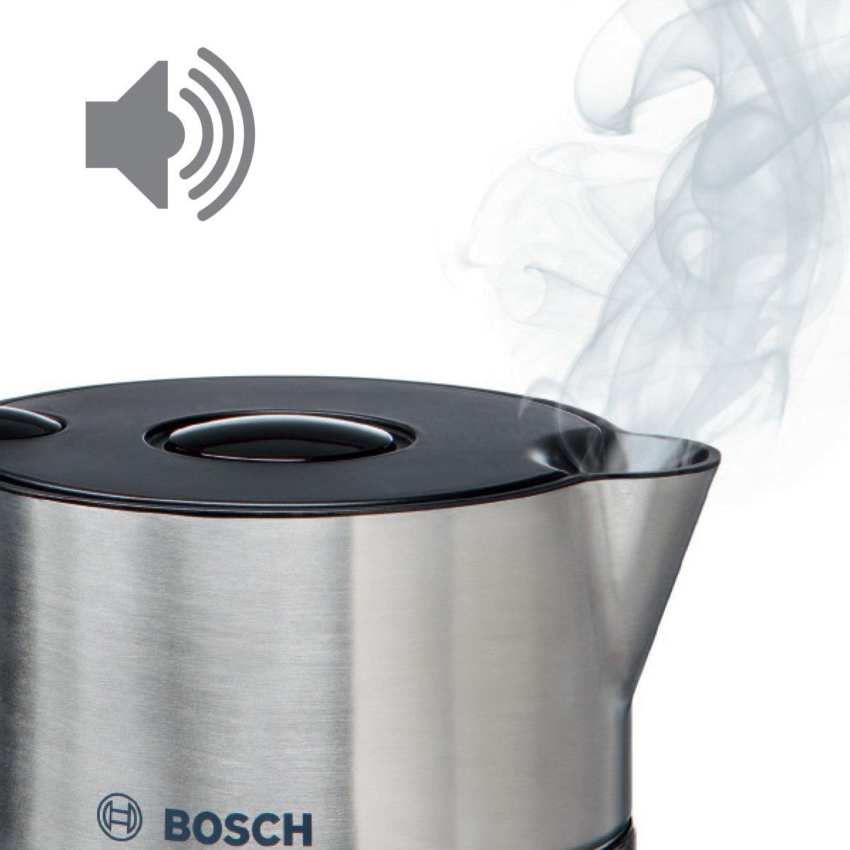 Bosch TWK8613P Wasserkocher Styline 2400 W für 1,5 L  schwarz