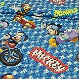 Stoffe Werning Dekostoff Lizenzstoff Micky Maus & Donald