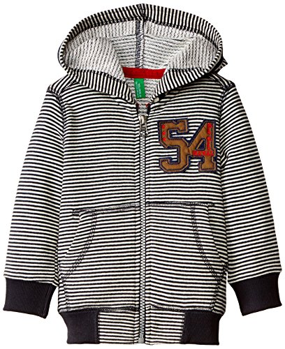 United Colors of Benetton Baby Boys' Sweater (15A3PO6C5085G901_White and Navy Striper_2Y)