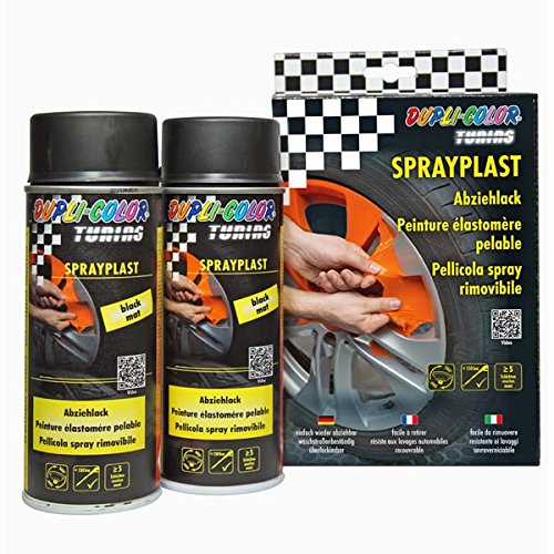 Dupli Color 388101 DC Sprayplast-Set, 2 x 400 ml, Schwarz Matt