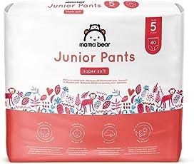 Amazon-Marke: Mama Bear Höschenwindeln Junior  - Gr. 5 (13-20kg), 2er-pack (2x40 Stück)