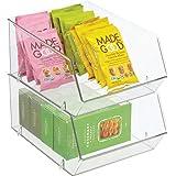 mDesign rangement frigo pour nourriture – bac alimentaire avec grande ouverture pour réfrigérateur, étagère ou congélateur –