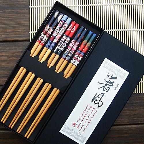 bingqing-lucky-cat-modello-cinque-paia-di-bacchette-giapponesi-decorati-5-color