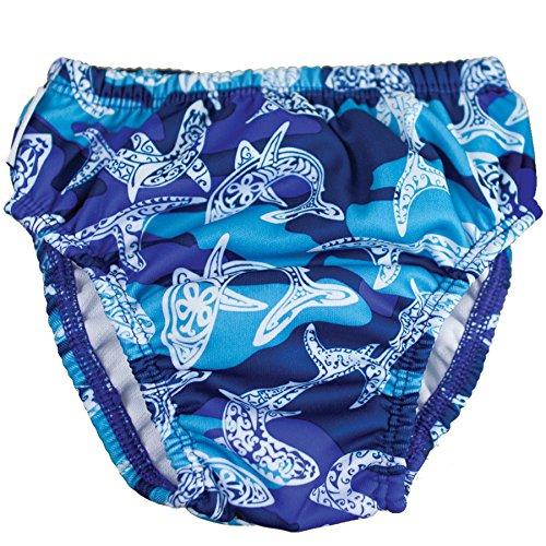 FINIS Jungen Swim Diaper Shark Camo M Schwimmen Windel, Blue/Navy/White, 8-10 kg (Baby-camo)