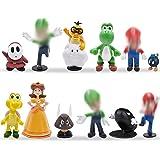 Miotlsy 12pcs / Set Toys - Figuras de y Luigi Figuras de acción de Yoshi y Bros Figuras de Juguete de PVC de